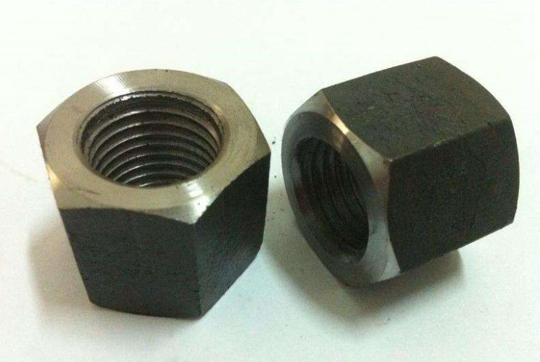 ISO 4032 Standard High Hex Nuts , M16 M18 Stainless Steel Nut On Galvanized Bolt