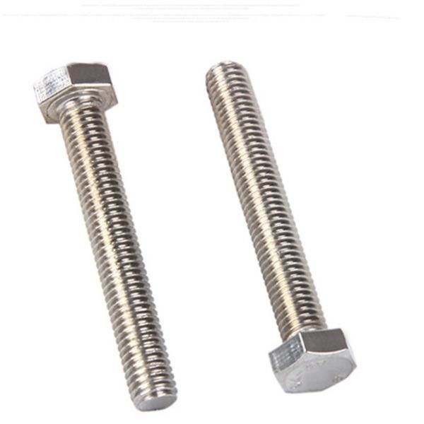Steel Structure Hex Tap Bolts Fully Threaded , Grade 8.8 Long Hex Head Bolts